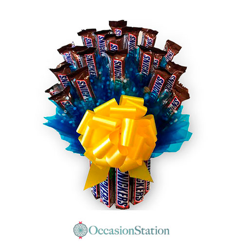 Snickers Candy Basket Bouquet